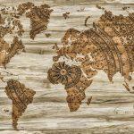 mapa mundi decoracion vintage