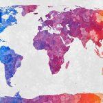 mapa mundo acuarelas