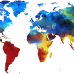 mapa del planeta tierra decorativo