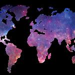 mapa mundi estrellas universo
