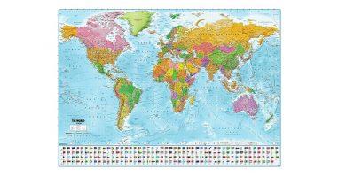 poster mapamundi pared